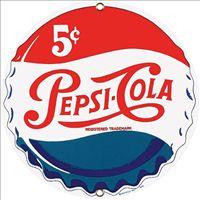 Pepsi Cap Porcelain on Steel Sign