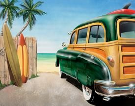 Retro Auto - Beach Woody