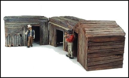 Hobo Shacks Diorama Ensemble De 3 Batiments
