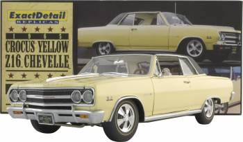 1965 Crocus Yellow Z16 Chevelle White Interior