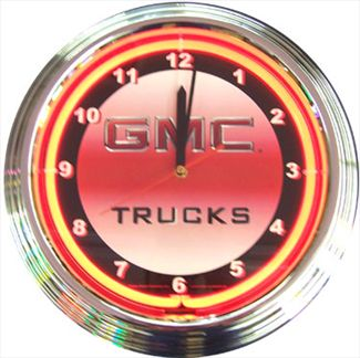 GMC Trucks Neon Clock