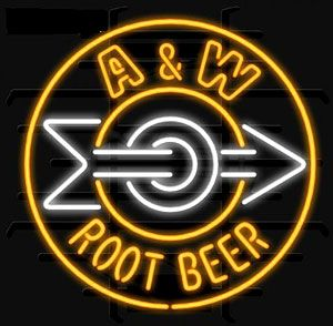 A & W Root Beer Neon Signs