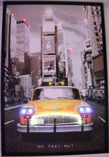 Taxi cab new york cadre lumineux - Cadre lumineux new york ...