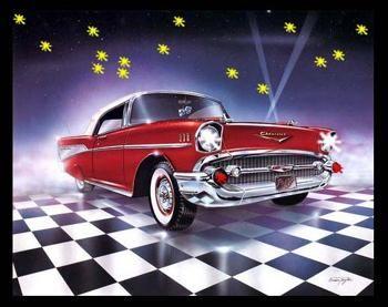 57 Chevy Mini Led Poster