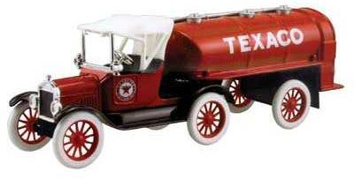 1918 ford runabout  with tanker bank texaco  die-cast metal replica