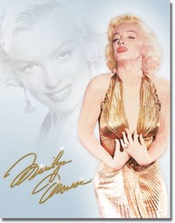 Marilyn  Monroe - Gold Dress