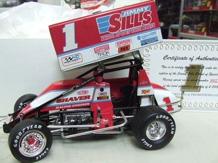 Jimmy Sills #1 Brentwood Dodge and Shaver Engines Sprint Car