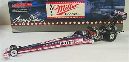 Larry dixon #1 Miller / Vote Miller for President of Beers 2004 Dragster