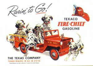 Texaco Fire-Chief Gasoline - Rarin' To Go!