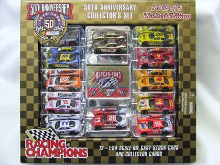 50th Anniversary Collector's Set - 12 Stock Cars and Collectors Cards