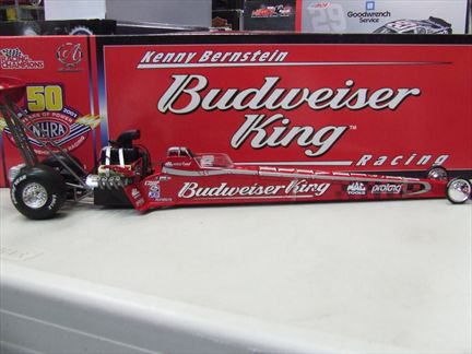 Kenny Bernstein #4 Budweiser King 2001 Dragster NHRA 50th Anniversary