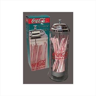 Coca~Cola Glass Straw Dispenser