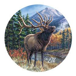 The Elk (Round Tin Sign)