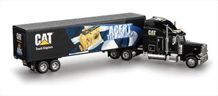 CAT Engine Mural Peterbilt 379 Tractor Trailer