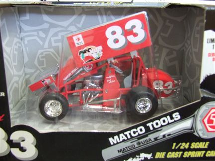 Bob Auld #83 Matco Tools 1998 Sprint Car
