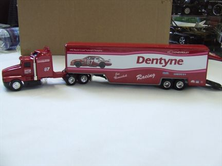 Joe Nemechek #87 Dentyne/1992 Busch Grand National Champion 1993 Kenworth Team Transporter