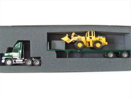 Mack Truck Flat Bed with Loader 544G John Deere
