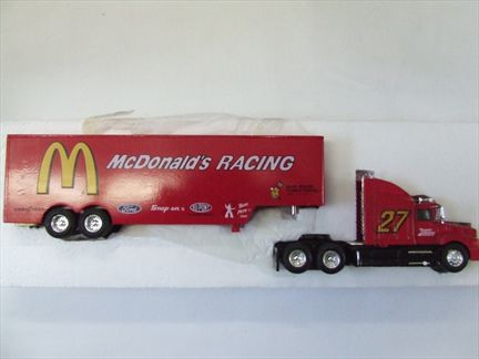 Racing Champions #27 McDonald's Racing Team Ford Aeromax Team Transporter Coin Bank