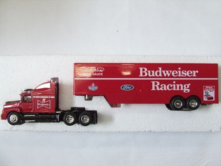Racing Champions #11 Budweiser Racing Bill Elliott Team Transporter Coin Bank