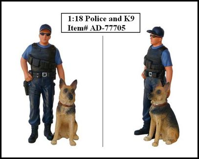 Figurine Police K9 Unit (With Dog)