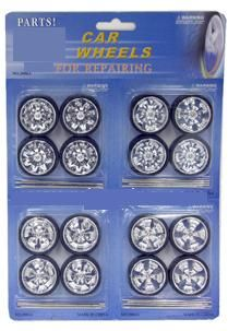 Set of wheels and spinning rims