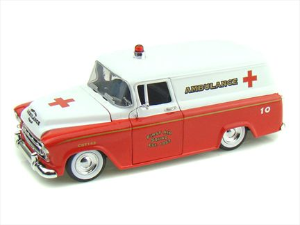 1957 Chevy Suburban Ambulance
