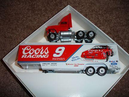 Winross Bill Elliot, Coors Racing #9 Transporter