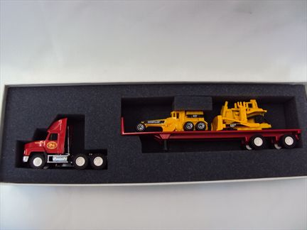 Mack Trucl - Flat Bed Transporter with CAT 14M Motor Grader and CAT D11r Track-Type Very Limited