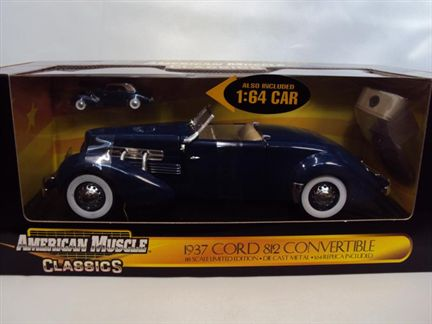 Cord 812 Convertible 1937 (Also included 1:64 car)