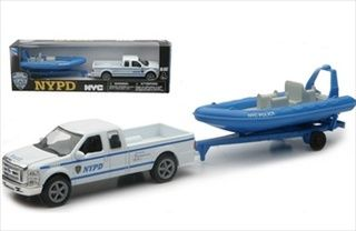 Ford F-250 Pickup And Boat Police New York