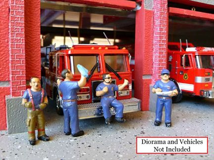 Fire Fighter Figure (Set of 4)