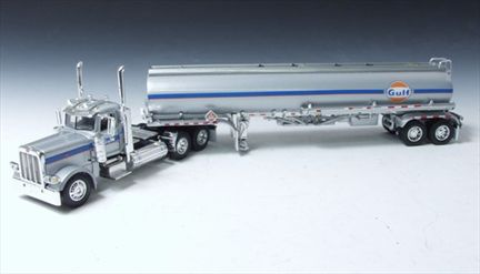 Peterbilt Model 389 Day Cab Tractor with Petroleum Tanker
