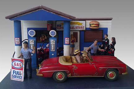 Diorama Station-Service (Gas Station)