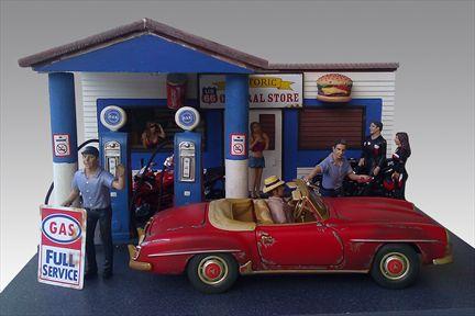 Diorama Station-Service (Gas Station)