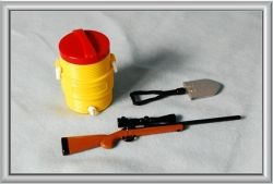 Accessories Set (Rifle, Cooler, Shovel)