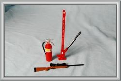 Accessories Set  (Fire Extinguishers, Rifle, High Jack)