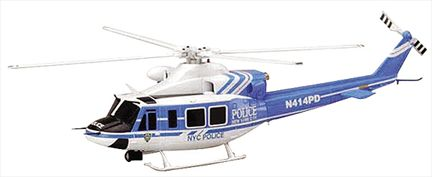 Helicopter Bell 412 NYPD New York Police 1:48