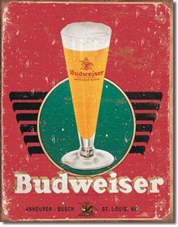 Bud - Retro Glass & Logo