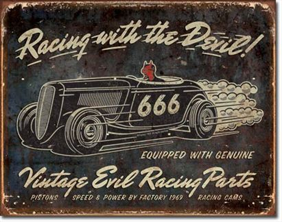 Racing With The Devil! - Vintage Evil Racing Parts