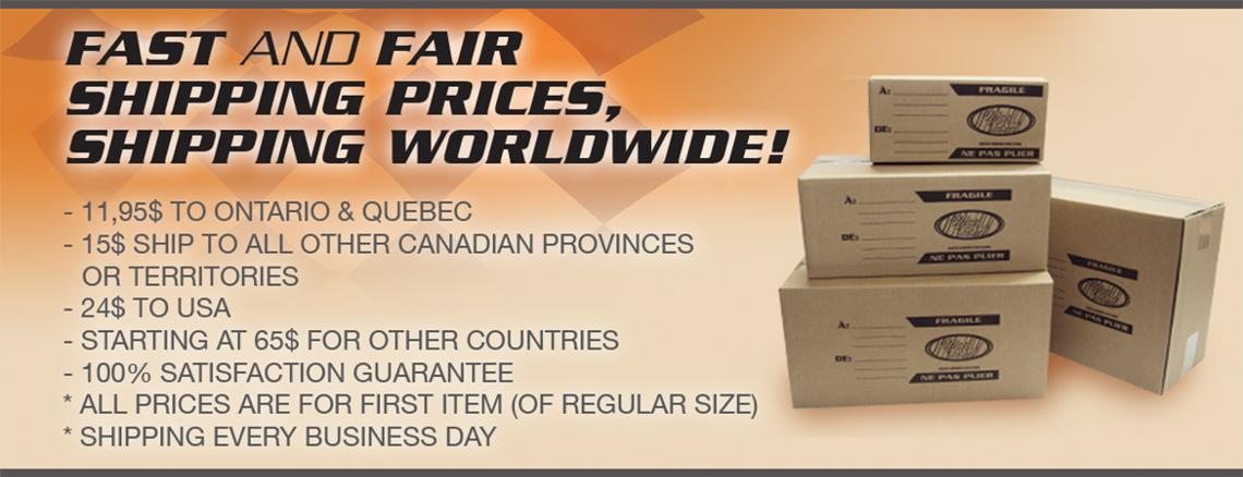 The biggest diecast and tin sign inventory in Canada. Fast & easy shipping, at fair price! Shipping worldwide.